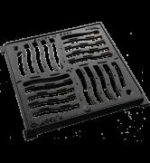 Grille plate ACCYO fonte PMR avec cadre C250