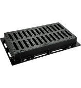 grille plate 706 de caniveau avec cadre fonte GS D400