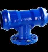 raccord fonte Té à joint automatique DE 63 à 140 pour tuyaux PVC rigide