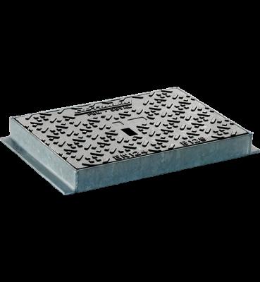 TRAPPE OPTIMUM type LOT Classe B125 standard tampon fonte cadre acier