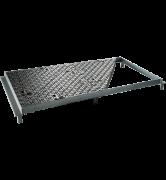 TRAPPES CLASSIQUES type KT Classe C250 tampon fonte cadre acier