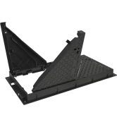 TRAPPES type KCVA D400 cadre fonte NF-362 VERROUILLÉES ARTICULÉES tampon et cadre fonte