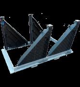 TRAPPES type KCVA D400 NF 362 VERROUILLÉES ARTICULÉES tampon fonte cadre acier