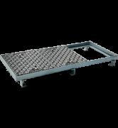 TRAPPES CLASSIQUES type LC Classe D400 tampon fonte cadre acier