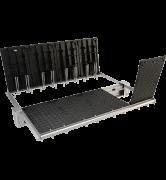 TRAPPES MODULAIRES type 2xPTVAA 250 kN VERROUILLÉES ARTICULÉES ASSISTÉES tampon fonte cadre acier