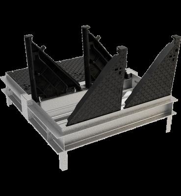 TRAPPES MODULAIRES type 2xKCVAA 400 kN cadre monobloc acier VERROUILLÉES ARTICULÉES ASSISTÉES tampon fonte