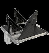 TRAPPES MODULAIRES type 2xKEVAA 600 kN cadre monobloc acier VERROUILLÉES ARTICULÉES ASSISTÉES tampon fonte