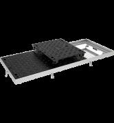TRAPPES VERROUILLÉES type LTV C250 à grille anti-chute tampon fonte cadre acier grille acier