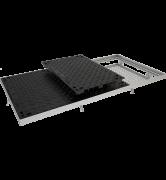 TRAPPES CLASSIQUES type PT C250 à grille anti-chute acier tampon fonte cadre acier