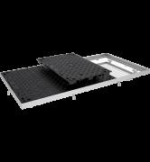 TRAPPES VERROUILLÉES type PTV C250 à grille anti-chute tampon fonte cadre acier grille acier