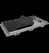 TRAPPES VERROUILLÉES type KCV D400 à grille anti-chute tampon fonte cadre acier grille acier