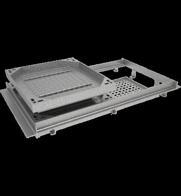 TRAPPE À REMPLIR type KCR 400 kN à grille anti-chute tampon acier cadre acier grille acier